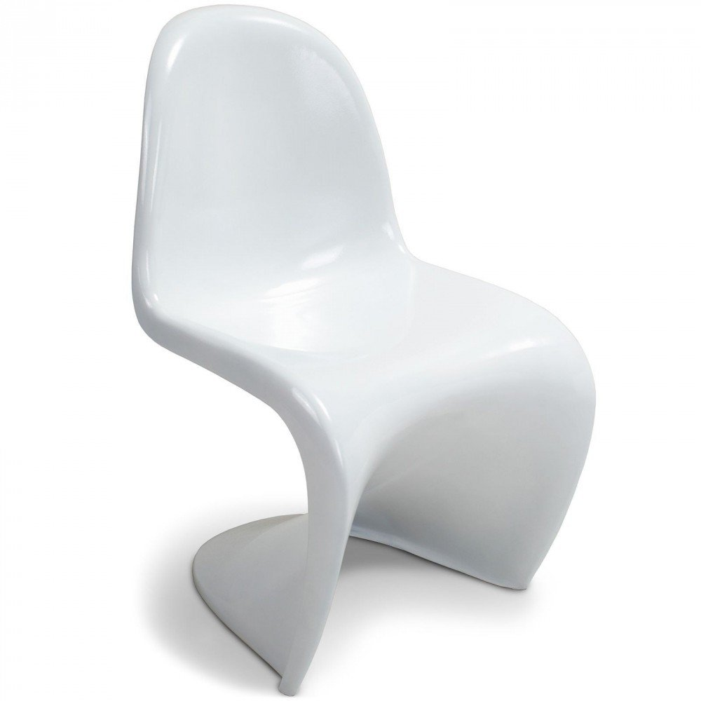 Supertrends Sedia Panton Style Bianco - 84 cm x 49 cm x 59 cm - SANTANI MOBILI