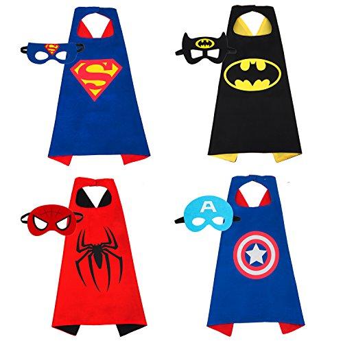 [Gomeet(TM) Superhero Dress Up Costume Set for Kids, 4 Satin Capes with Felt Masks] (Nerf Boy Costume)
