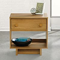 Sauder Soft Modern Night Stand Pale in Oak Finish