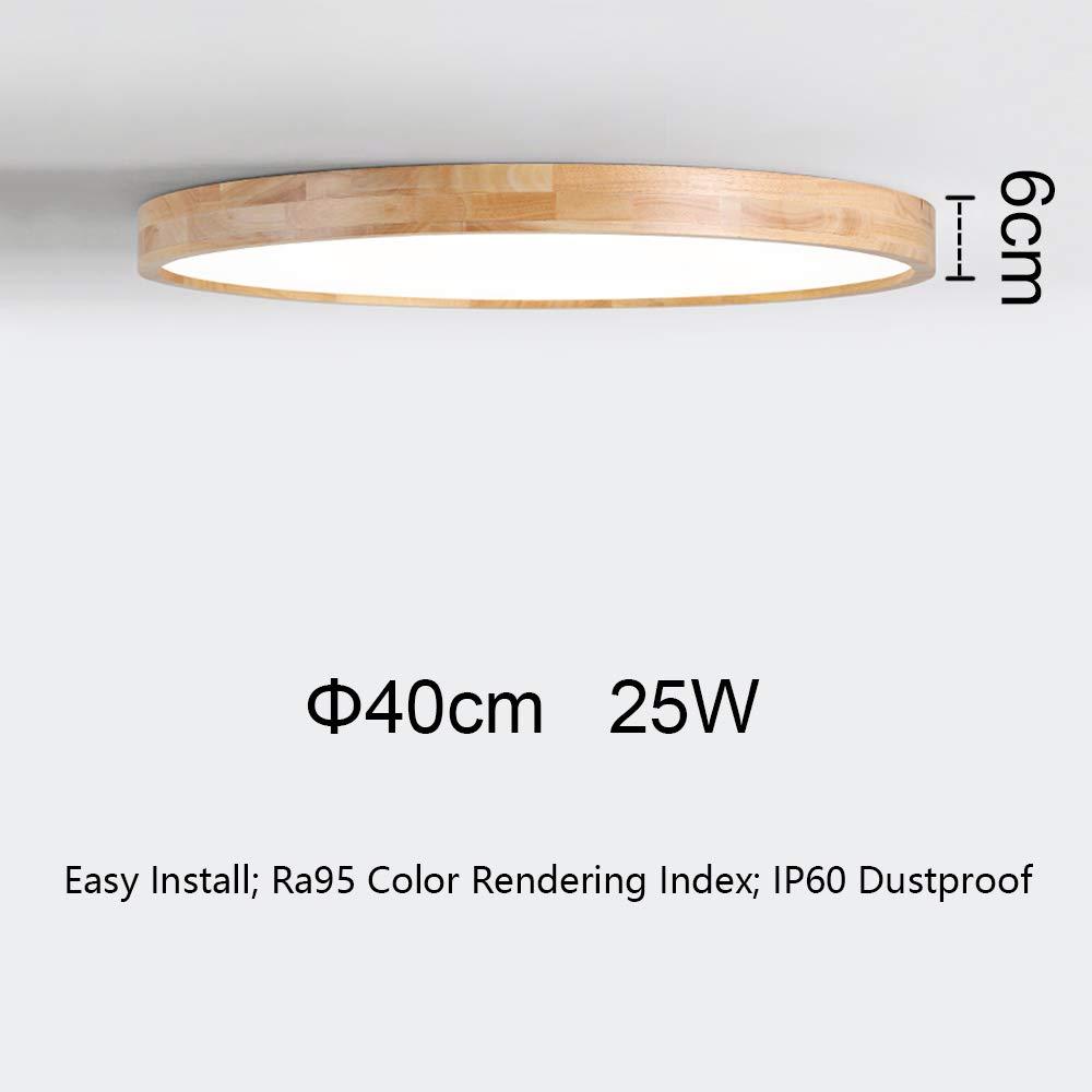 B/üro kaltwei/ß 6000K 4000lm /Φ60cm Runde Holz Lampe f/ür Wohnzimmer Esszimmer Nordic Modern Holz Deckenlampe Schlafzimmer Kinderzimmer Leuchte Decke Licht Holzlampe 50W LED Deckenleuchte