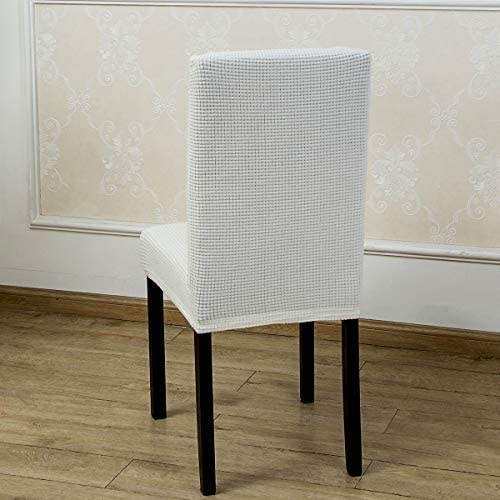 2 Pack Armless Chair Slip Covers for Dining Room Kitchen Slipcovers Soft Jacquard Home Decor Black