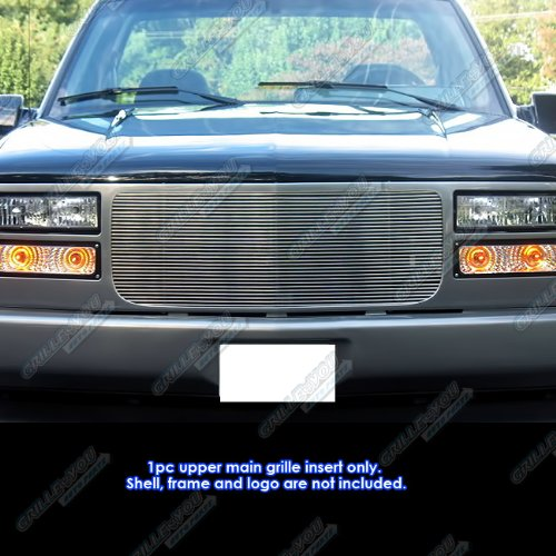 APS G85012M Polished Aluminum Billet Grille Replacement for select GMC C1500 Models