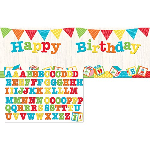 Creative Converting 329344 Happy Birthday Banner with Stickers ABC ()