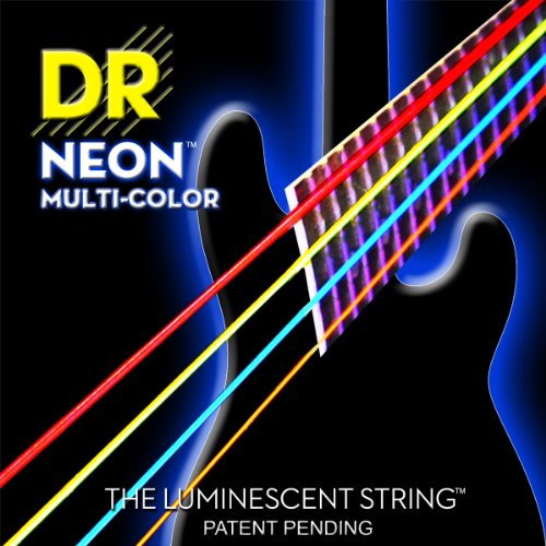 DR Strings NMCB-40 DR NEON 4 Bass Guitar String, Light, (Pink Bass Strings)