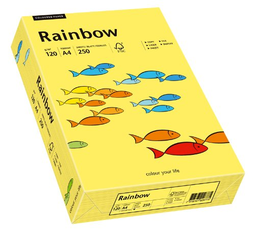 matt Bastelpapier: Rainbow 120 g/m² Papyrus 88042766 Drucker-/Kopierpapier farbig A4 intensivblau 250 Blatt Buntpapier