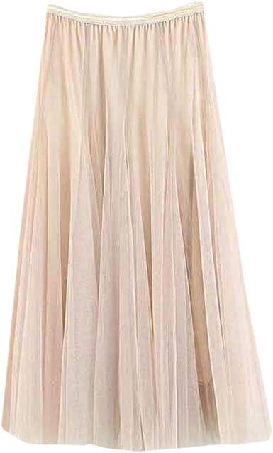 VJGOAL Moda Casual de Las Mujeres Color sólido Columpio Grande Tul ...