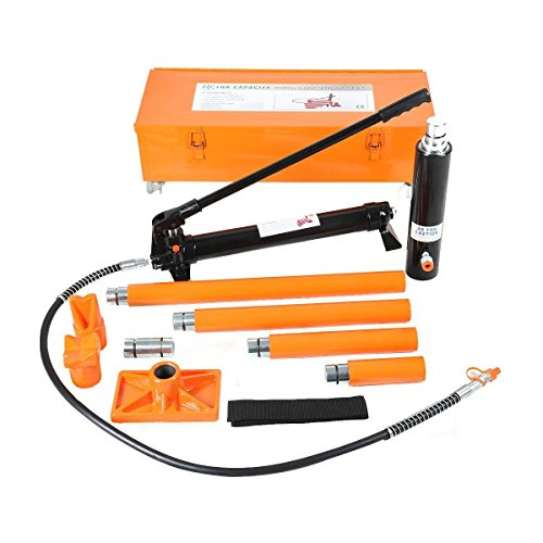 Goplus 20 Ton Hydraulic Jack Air Pump Lift Porta Power Ram Repair Tool Kit Set W/Case by Goplus