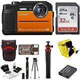 Panasonic DC-TS7D Lumix TS7 Waterproof Tough Camera with 32GB SD Card/Battery Bundle