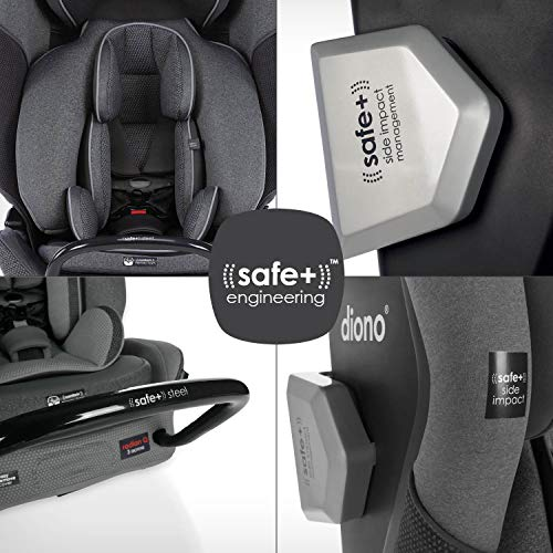 51gw7XWVv7L - Diono Radian 3QXT 4-in-1 Rear And Forward Facing Convertible Car Seat, Safe Plus Engineering, 4 Stage Infant Protection, 10 Years 1 Car Seat, Slim Design - Fits 3 Across, Gray Slate