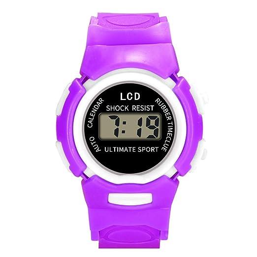 Kanpola Decoración Infantil Relojes,Reloj de Pulsera electrónico electrónico para niños, niñas, Deportes