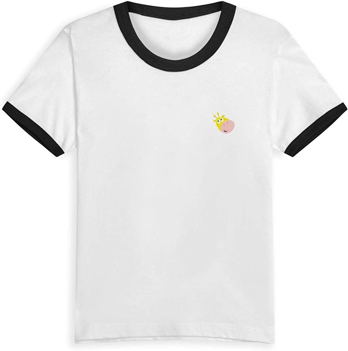 LX LUCasual Childrens Printing Logo Round Collar Short Sleeve T-Shirt Cotton Tee for Kids