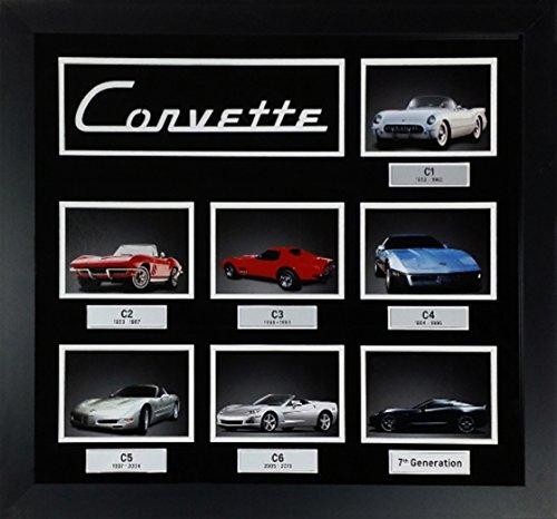 Framed Corvette Seven Generations Collage by Corvette Central