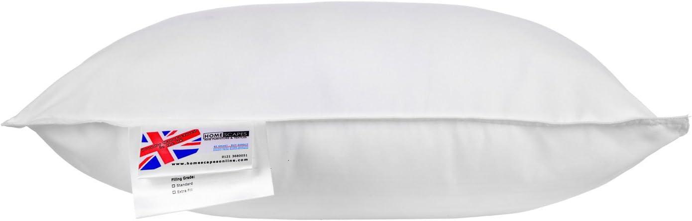 30 x 40 cm fait en Microfibres anti acariens pour votre Sant/é et bien /être Homescapes Oreiller ou Coussin synth/étique de Luxe
