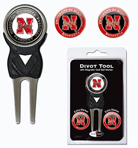 ncaa-nebraska-cornhuskers-divot-tool-pack-with-3-golf-ball-markers