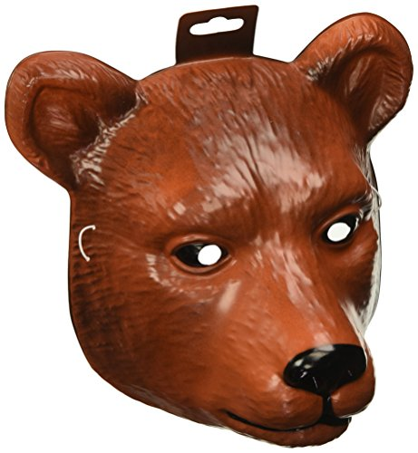 Forum Novelties Animal Bear Mask (Fits Most Child / Adults), Brown, One Size