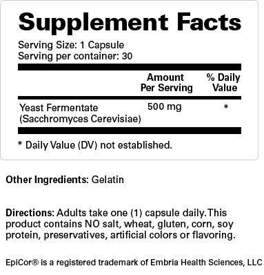 EpiCor® Natural Immune System Supplement (500 mg) 30 Capsules - 12 Bottles