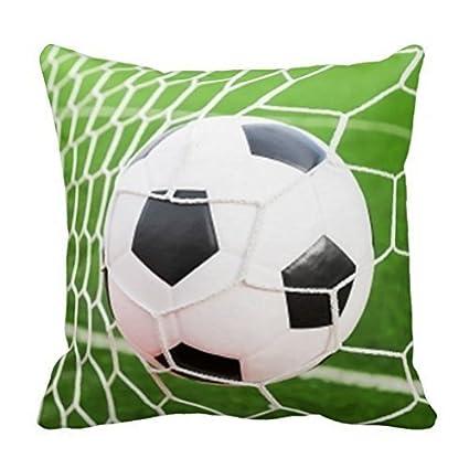 Amazon.com: njfhgk Soccer Ball Pillow Cover 18x18 Sofa ...