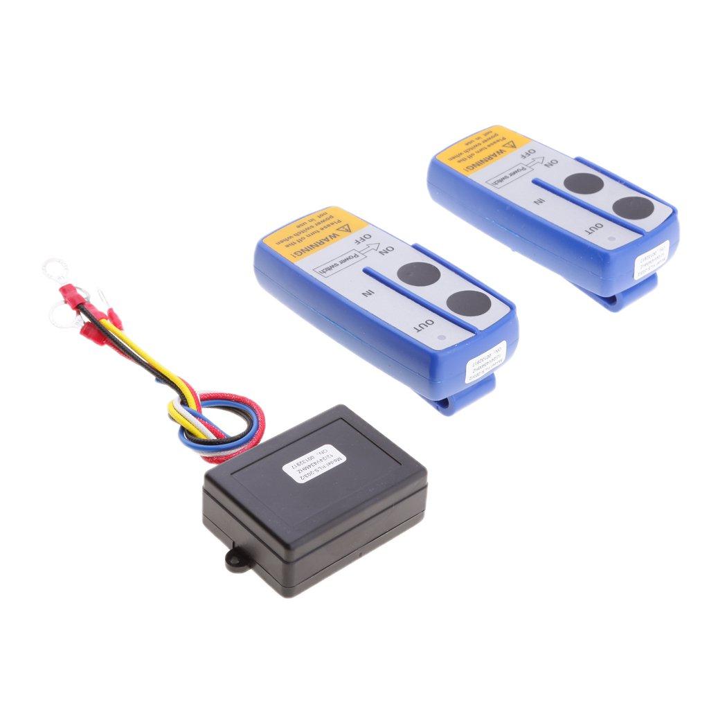 Homyl High Quality Car ATV SUV Wireless Winch Remote Control Kit Dual Switch 30m