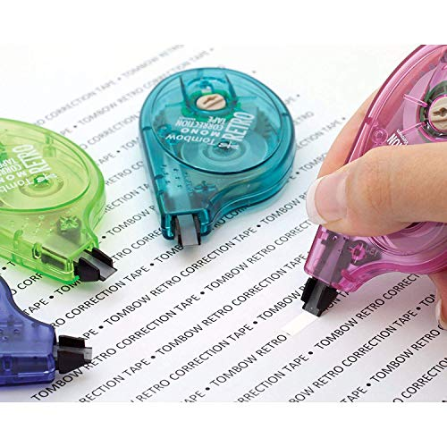 Tombow 68723 MONO Retro Correction Tape, Assorted Colors, 10-Pack. Colorful, Easy To Use Applicator for Instant Corrections - Pack of 5 by Tombow (Image #6)