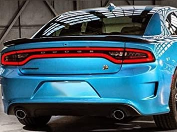 Accent Car Spoilers   Dodge Charger HELLCAT Factory Style Spoiler Black  Crystal Paint Code: