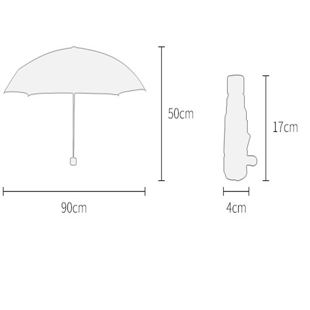 Guoke The Weather Was Fine Rain Umbrellas Use A Sunscreen Ultra Small Ultra Light Mini Light Folding Portable, Cowboy - Brown by Guoke (Image #2)