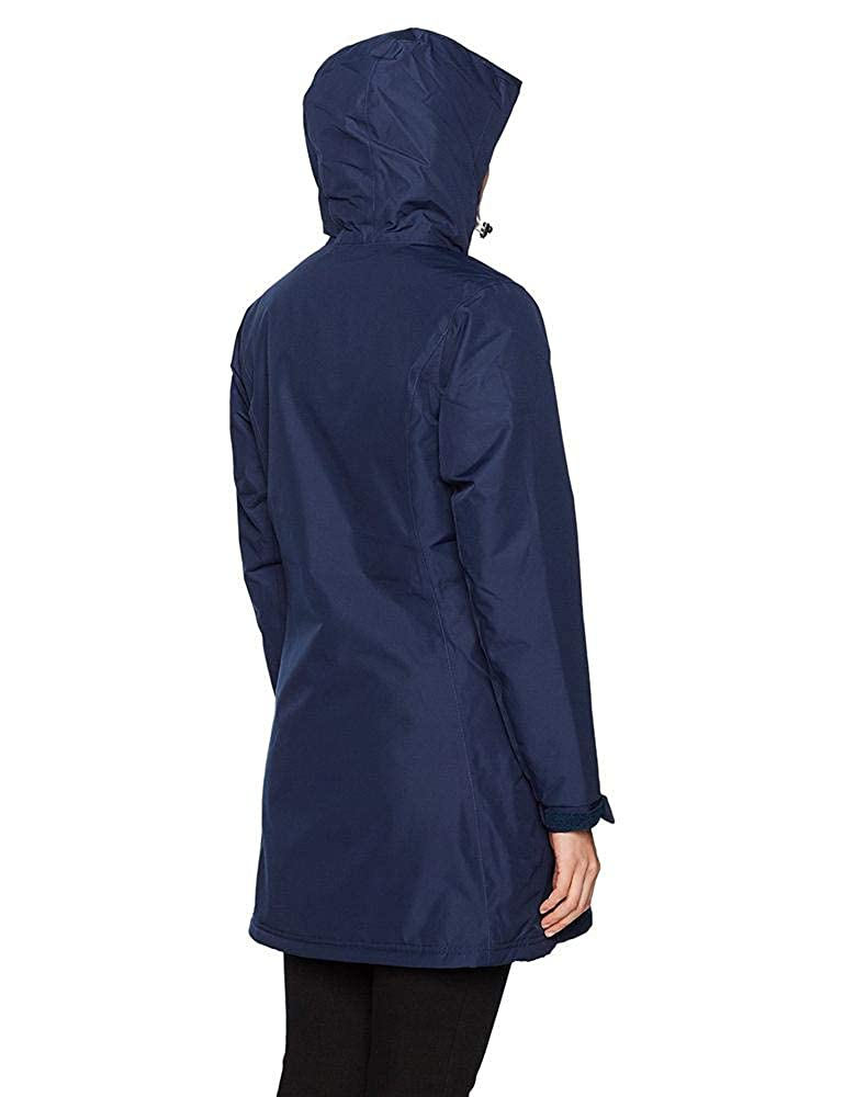 Helly Hansen Womens Long Belfast Insulated Waterproof Windproof Breathable Raincoat Jacket with Hood