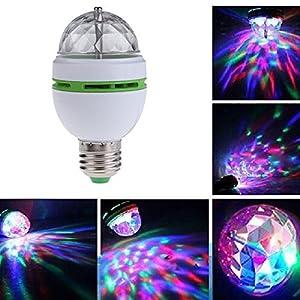 Windspeed Rotating LED Strobe Bulb Multi changing Color Crystal Stage Light E27 base
