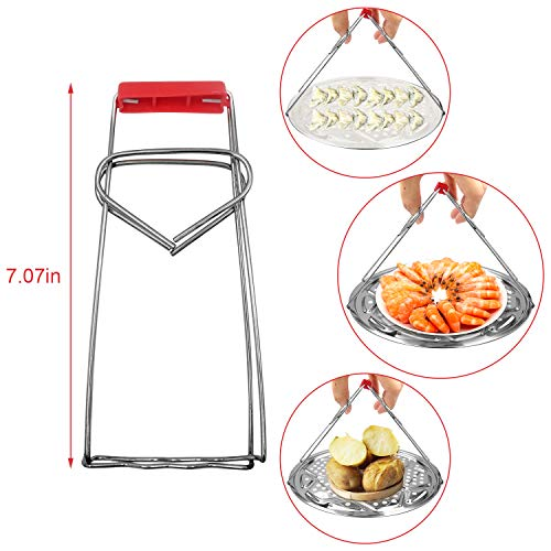 4 Pack Stainless Steel Pressure Cooker Canner Rack, Canning Racks Steamer Rack Stand for Pressure Canner Rack Pot Steam Basket Rack Accessories (10\
