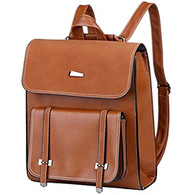 866c90326a Vbiger PU Leather Backpack Stylish School Bag Solid Travel Backpack Trendy  Outdoor Daypack for Women well