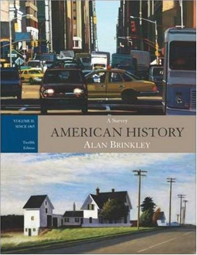 By Alan Brinkley - American History: A Survey, Vol. 2: Since 1865, with Primary Sour (12th Edition) (2006-09-14) [Paperback] PDF