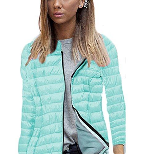 Doudoune Courte Hoodie Hiver Pure Vert Couleur Casual Légère Duvet À Ultra Compressible Veste Zipper Capuche Mode Blouson Chaud Femme TqXwBH8q