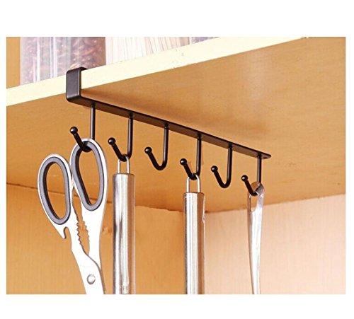Kemilove 6 Hook Under Shelf Mugs Cups Wine Glasses Storage D