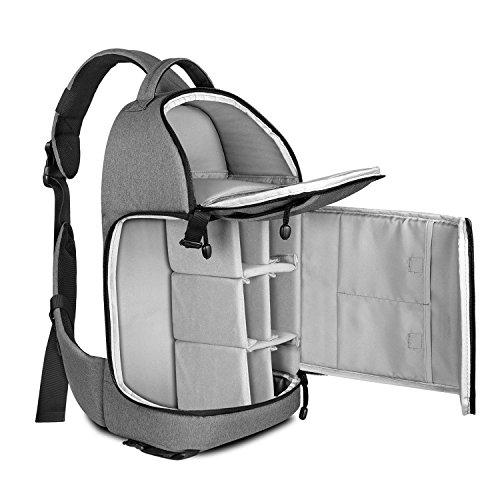 Zecti Sling Camera Bag for DSLR Camera  Gray