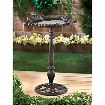 Bath Bird, Rustic Parakeet Bird Bath Antique Modern Cast Iron Garden Bird Baths