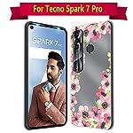 Fashionury Back Cover for Tecno Spark 7 Pro Designer | Printed|Transparent |Flexible| Silicon Back Case for Tecno Spark…