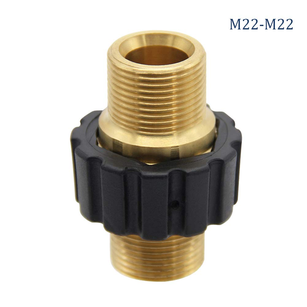 Twinkle Star Pressure Washer Hose Quick Connector, M22 Metric Male Thread Fitting, TWIS375