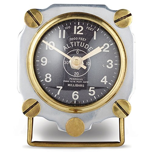 Altimeter Desk (Aviator 1930's Altimeter Table Clock Army Air Corp Replica Polished)