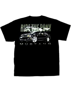 Ford Mustang T-shirt Flaming Pony Muscle Medium