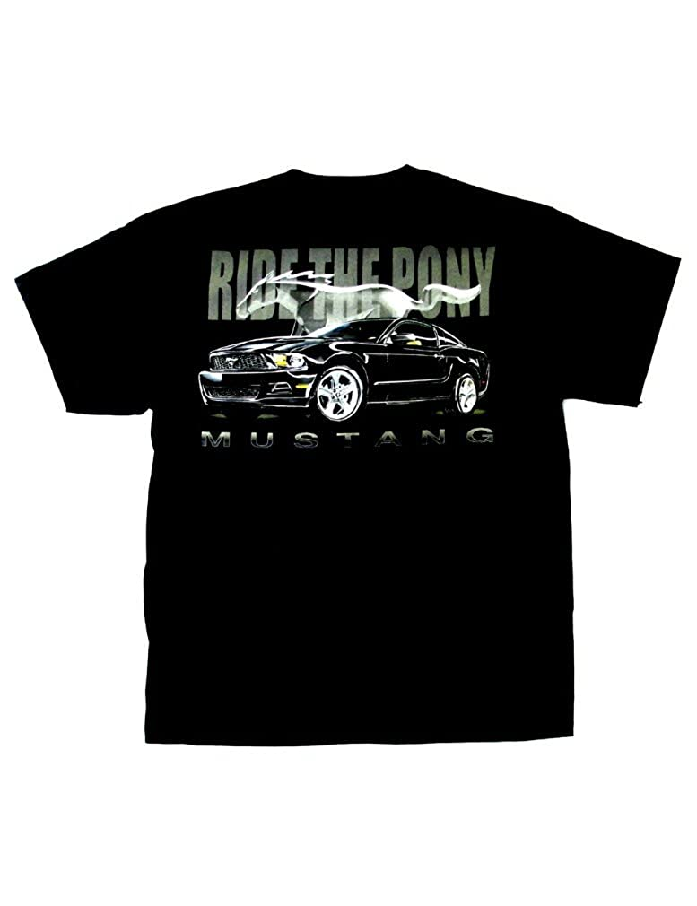 Mustang Cotton Ford T-Shirt Black Adult Mens Womens Short Sleeve T-Shirt