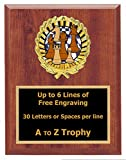 Chess Plaque Trophy 7x9 Wood Board Games Tournament Trophies Awards Free Engraving