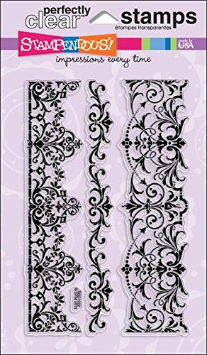 Border Stamp (Stampendous Perfectly Clear Stamp Set, Elegant Borders Image)