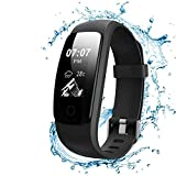 Sweesire Fitness Tracker, IP67 Waterproof Smart Watch/Band/Bracelet with Heart Rate Monitor, Smart Calorie Counter & Pedometer & Activity Tracker for Women Men Kids, Android iOS