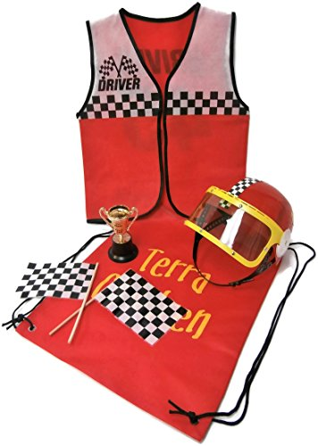 Auberge Kids Costumes Pretend Dress Up Role Play Sets (Race Car Driver)]()