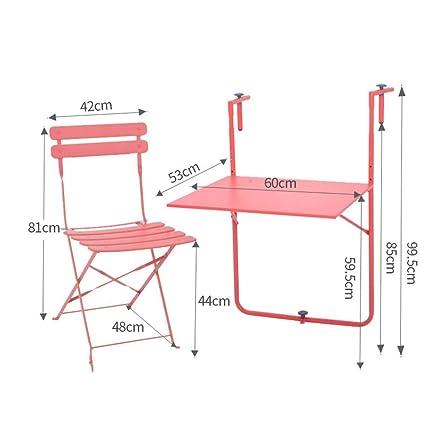 CWJ Hogar Mesa pequeña Balcón y sillas Plegables Cubierta ...