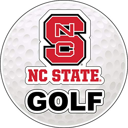 R and R Imports NC State Wolfpack 4-Inch Round Golf Ball Vinyl Decal Sticker