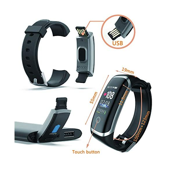 Best fitness trackers Smart Watch for Android and iOS Phone,Fitness Tracker Watch with Heart Rate Blood