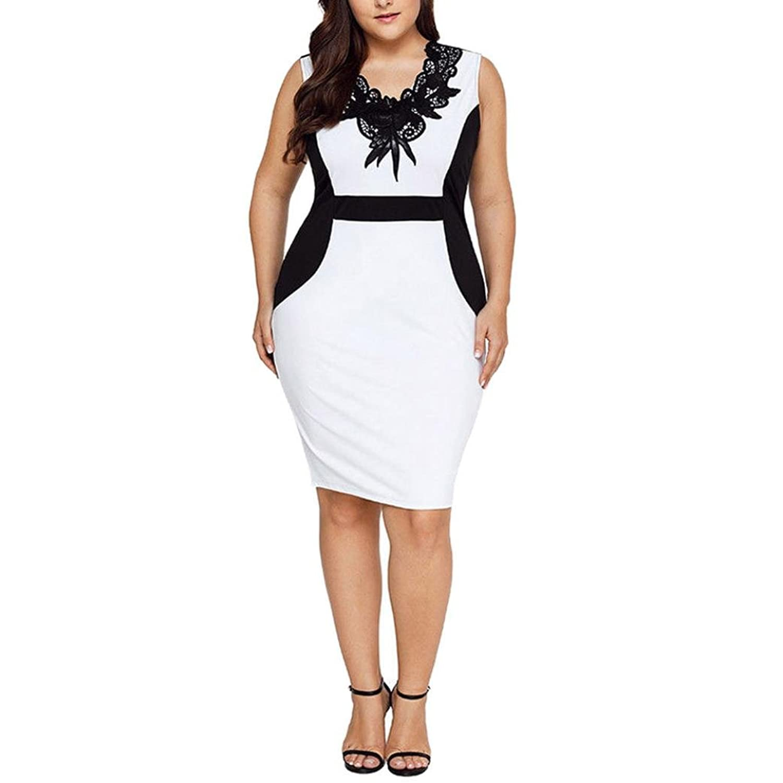 huge selection of 48736 c3269 50%OFF Oyedens® Große Größe Spitzenkleid Chiffon-Kleid ...