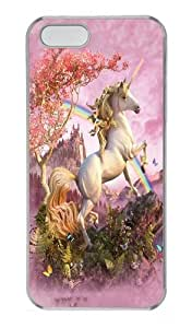 iPhone 5S Cases & Covers -Awesome Unicorn Polycarbonate Hard Case Back Cover for iPhone 5/5S Transparent