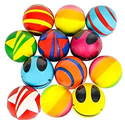 Stress Balls Bulk Value Assortment (50 Pack) Stress Relax Toy Balls, Ball Assortment