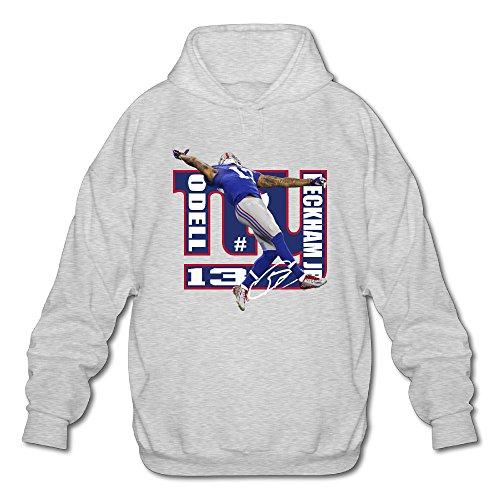 AK79 Men's Sweater Odell Football Beckham Jr NY Logo Size XXL Ash - Fathead Green Bay Packers Helmet